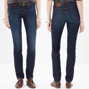 Madewell   Alley Straight Dark Wash Jeans
